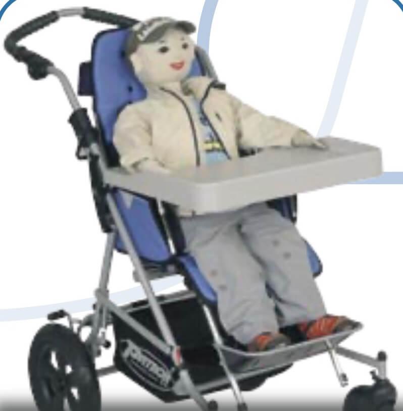 Patron Stroller Gri Masa