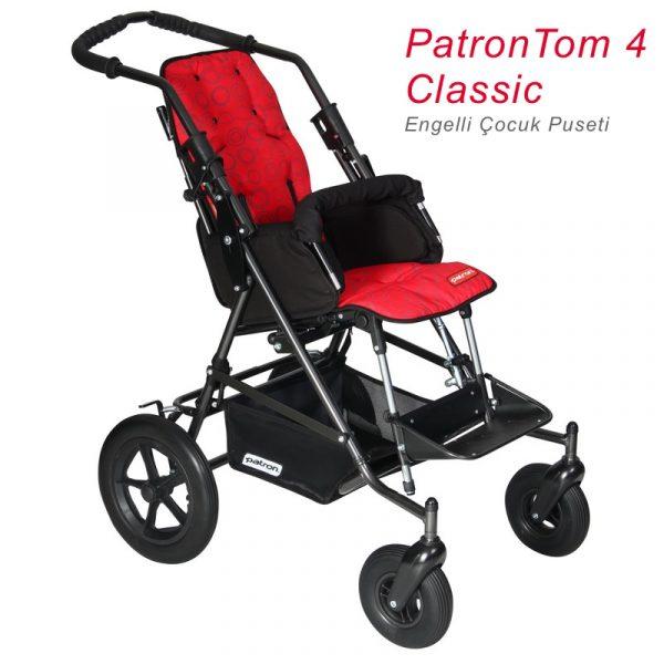 Patron Tom 4 Classic Engelli Çocuk Puseti_Kırmızı